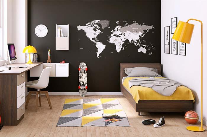 Cores para quarto com amarelo e preto