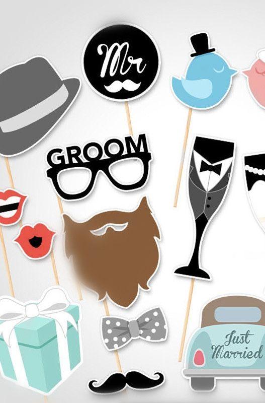 Máscaras para os convidados na festa