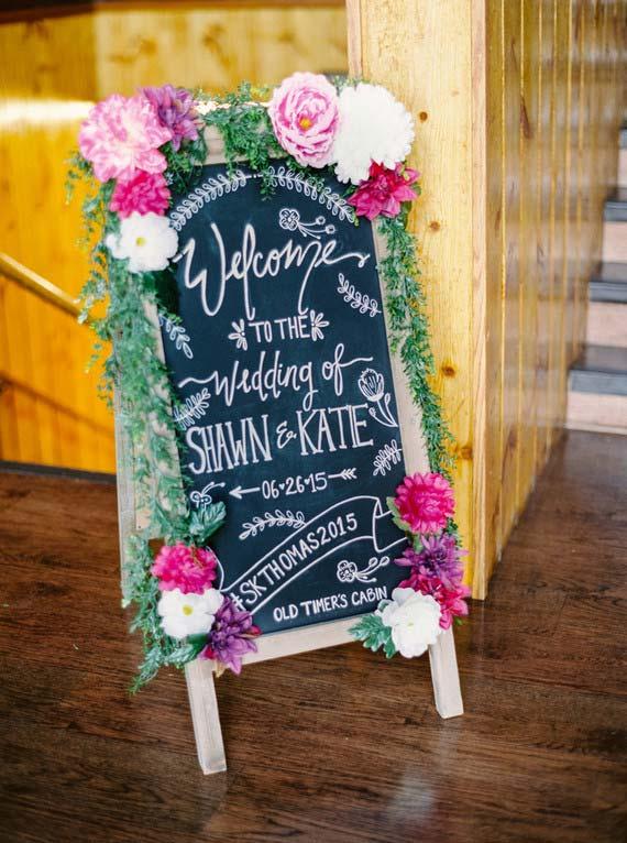 Plaquinha de entrada de casamento