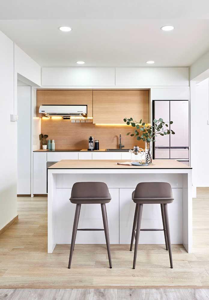 Um ambiente suave pode ser a melhor opção para a sua cozinha