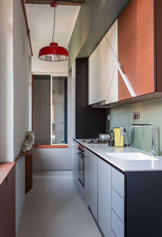 Móveis bem distribuídos deixa a cozinha mais organizada