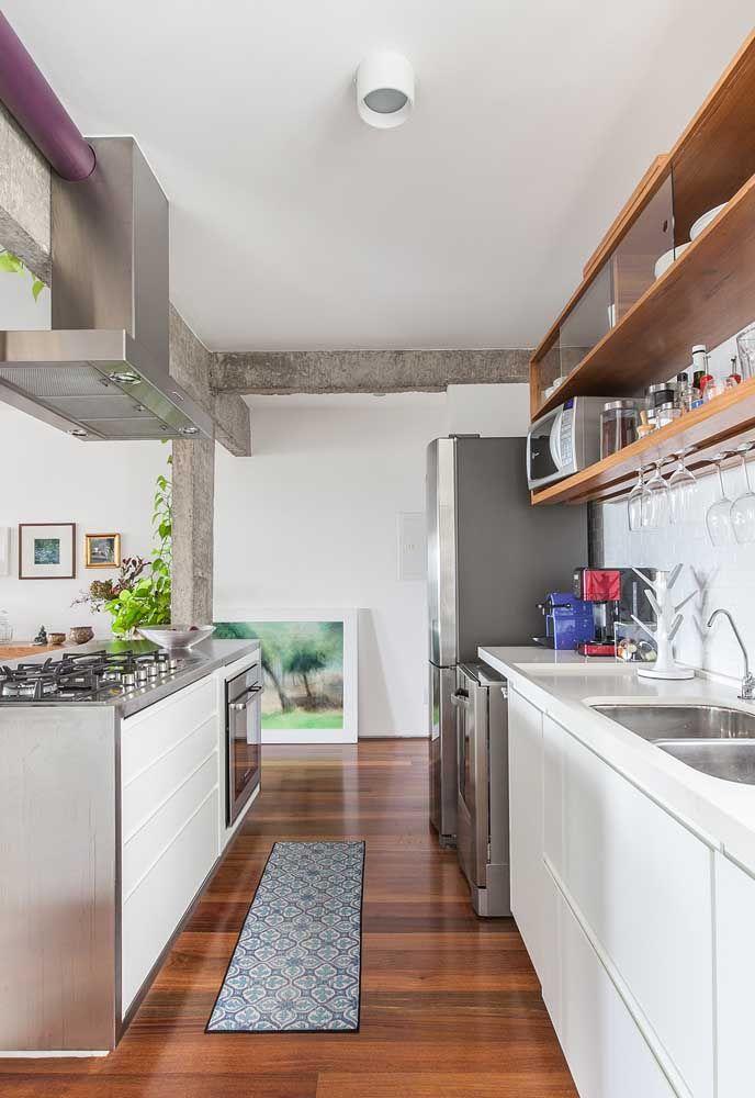 A mistura de textura pode transformar a cozinha em um ambiente de luxo