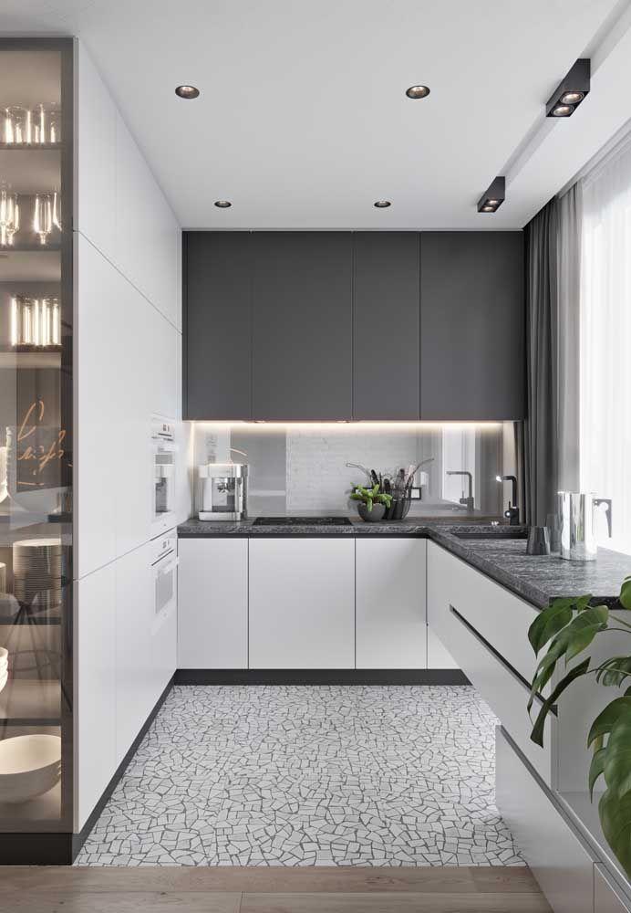 Ou o piso que valoriza a cozinha