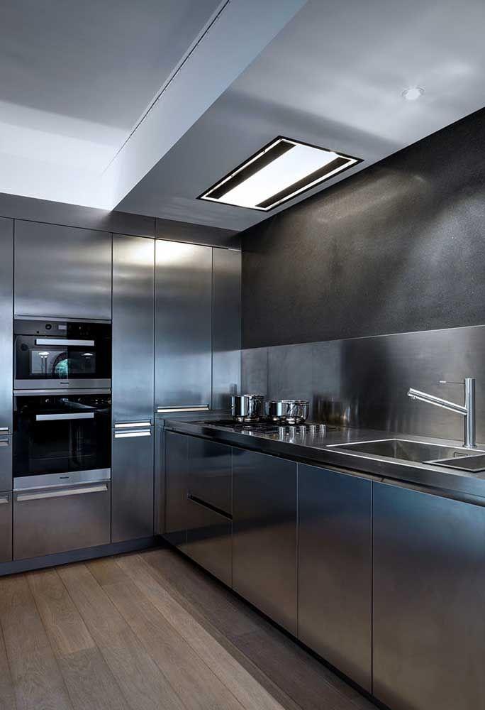 Cozinha moderna, elegante e sofisticada