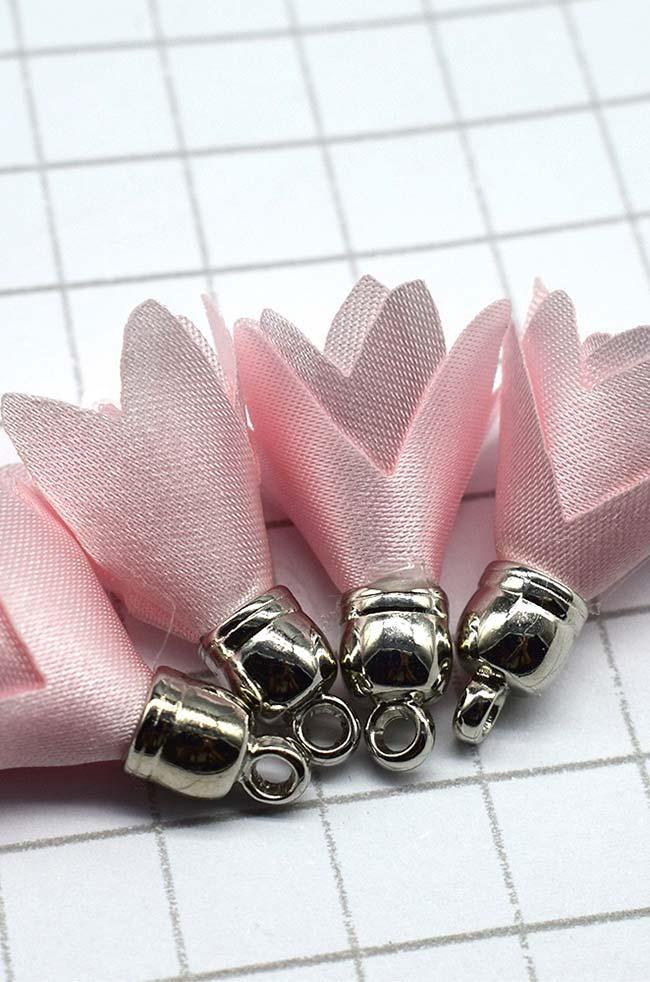 Chaveirinho de flores de tecido