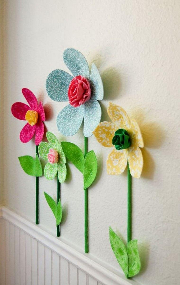 Flores de tecido para decorar a parede