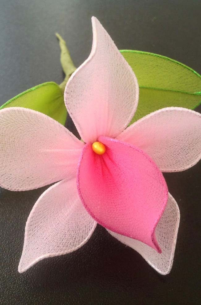 Seda para fazer flor de tecido