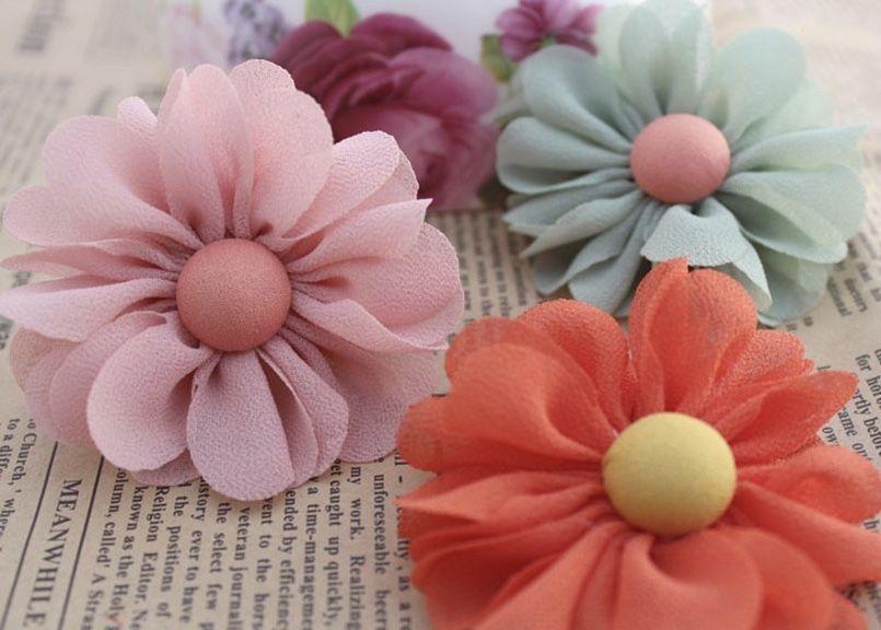 Franzido perfeito com flores de tecido