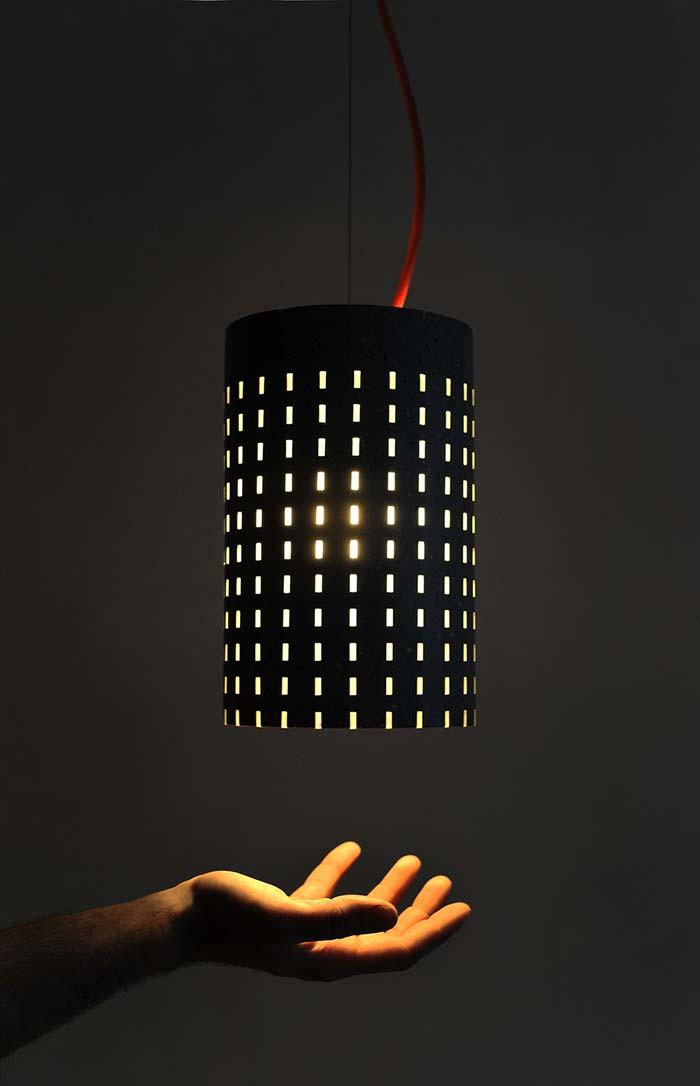 Modelo de luminária de teto de PVC