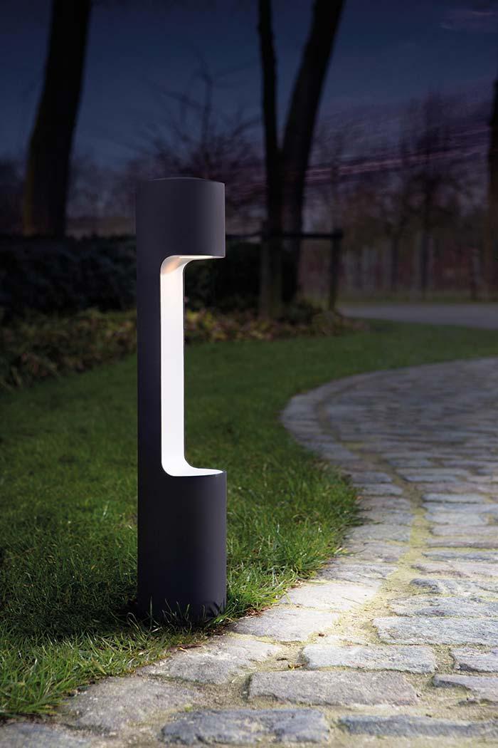 Luminária de PVC para jardim