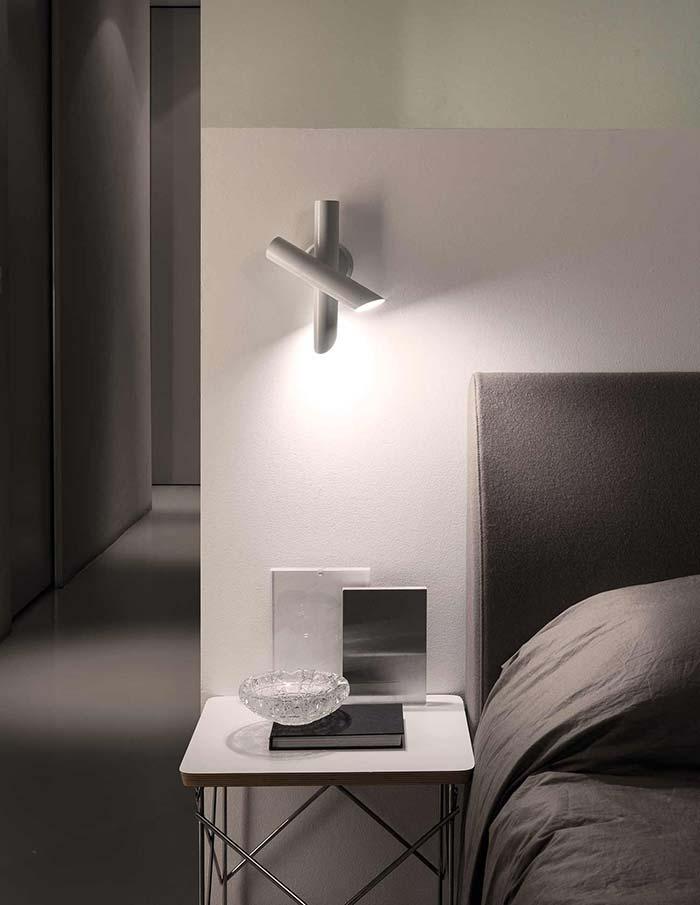 Luminária de PVC duas em um