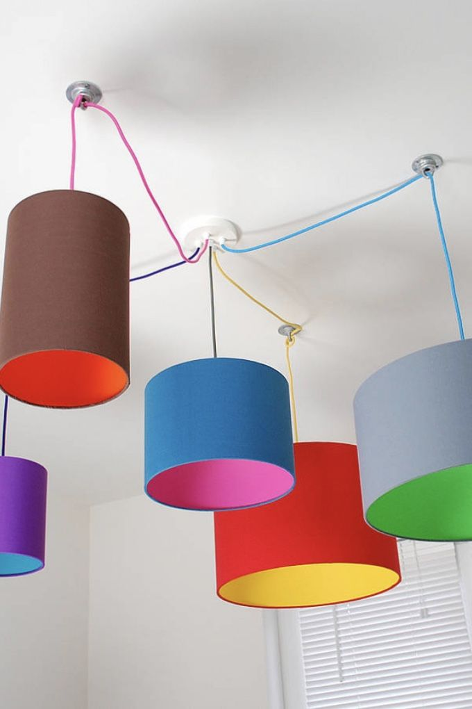 Luminárias de PVC coloridas