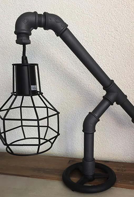 Luminária de PVC de mesa