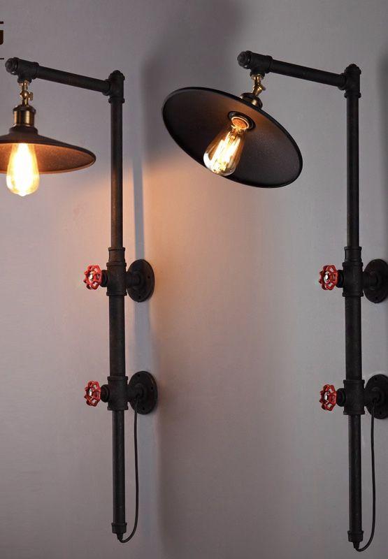 Luminária de PVC em canos