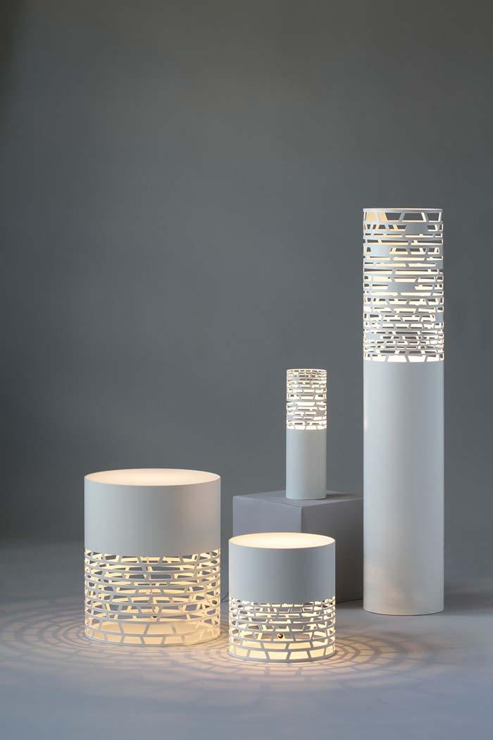 Luminárias vazadas de PVC
