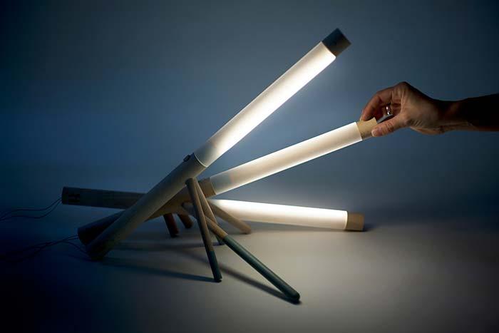 luminária de PVC com tampa