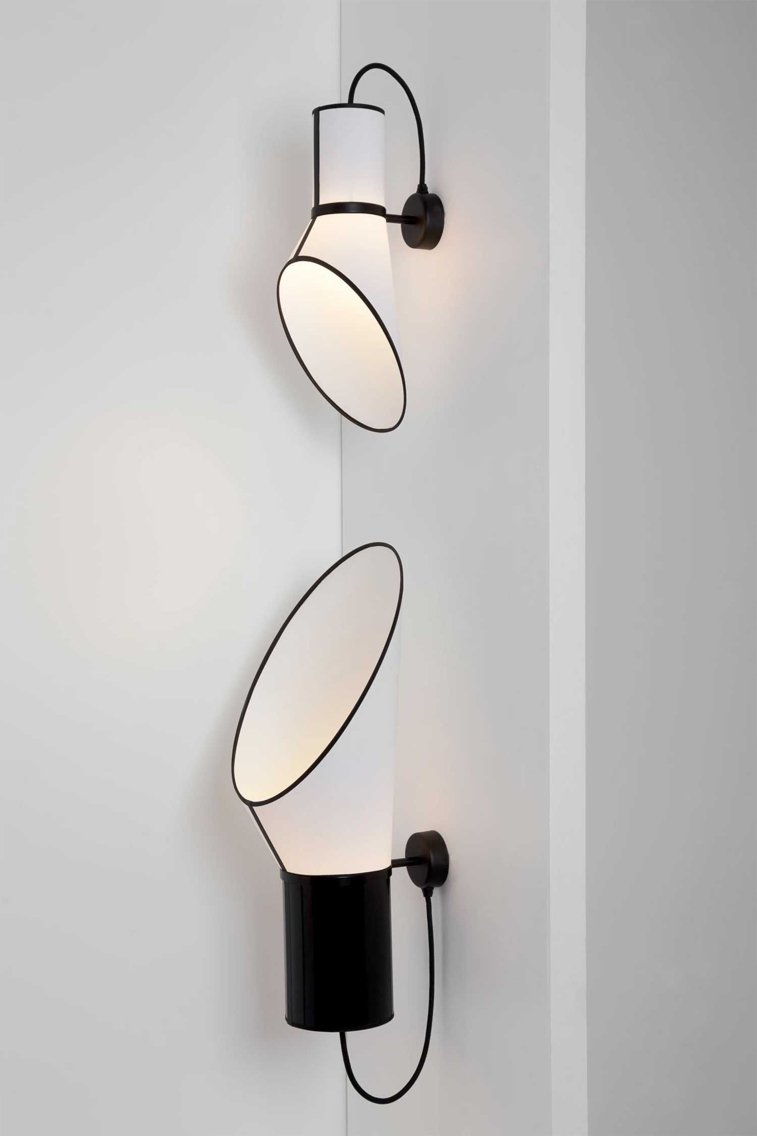 Luminárias de PVC de parede