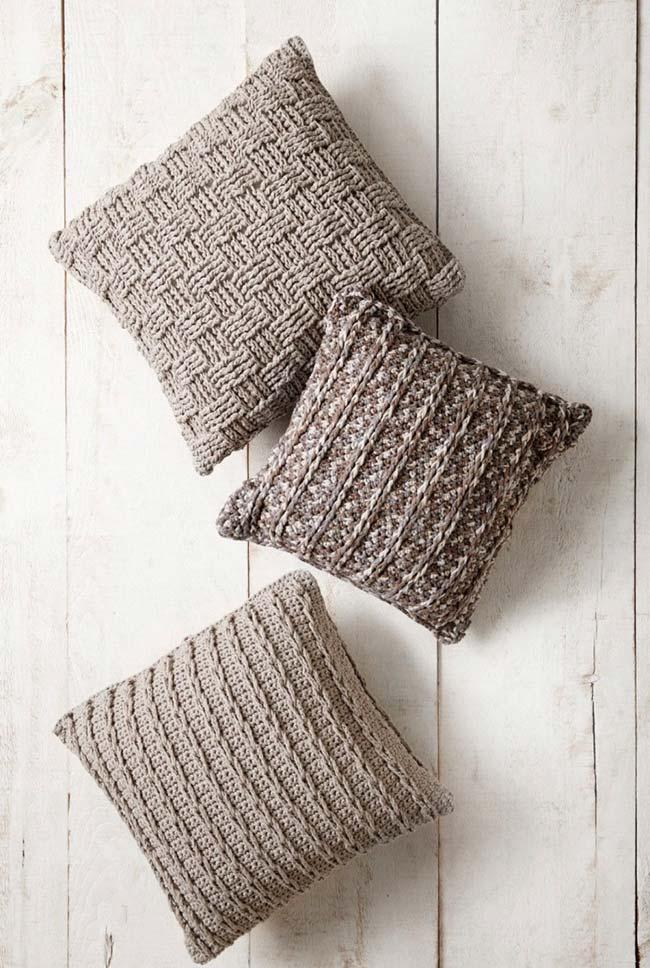 Pontos altos na capa de almofada