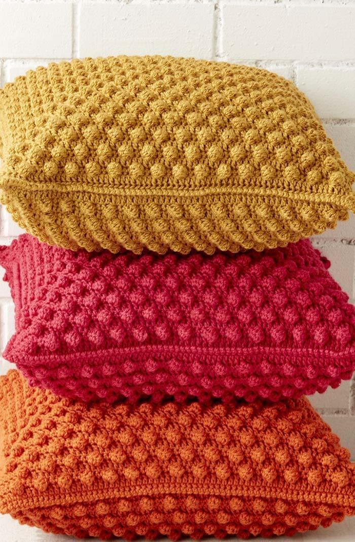 Conjunto de capa de almofada de crochê