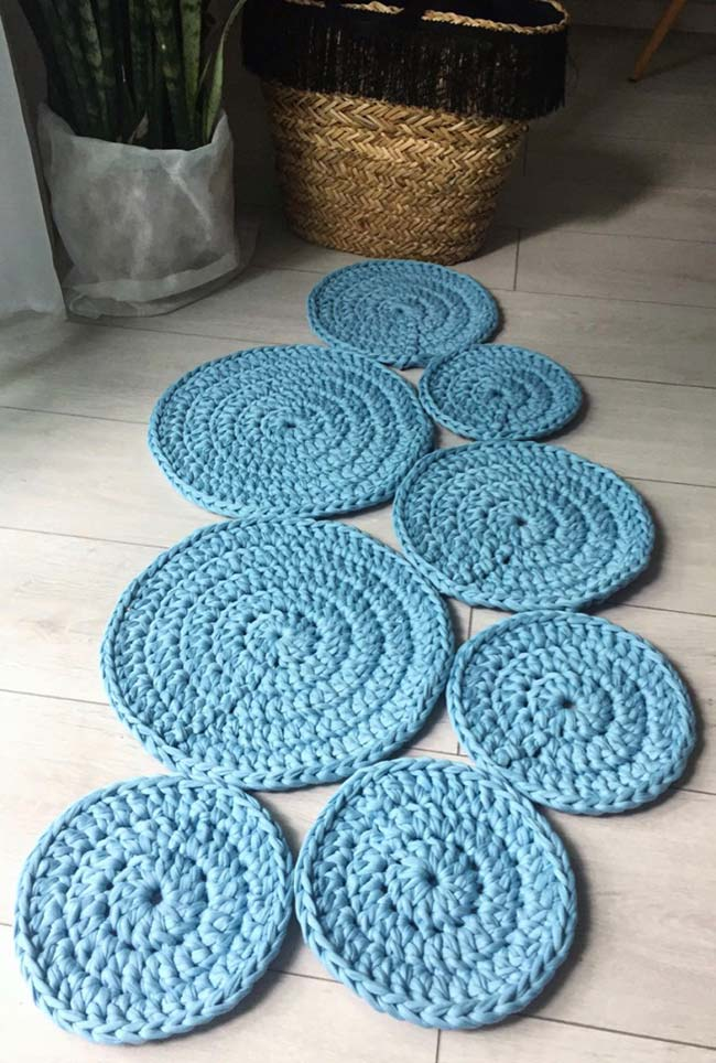 tapete de crochê redondo diferenciado