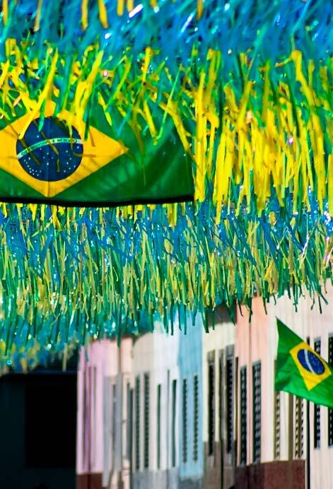 Rua decorada para copa do mundo