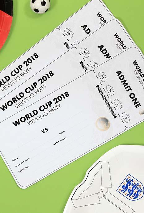 Convites para festa Copa do Mundo