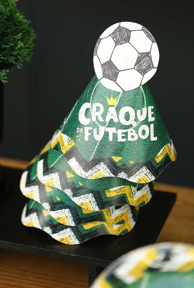 Chapéuzinhos para decoração de copa do mundo