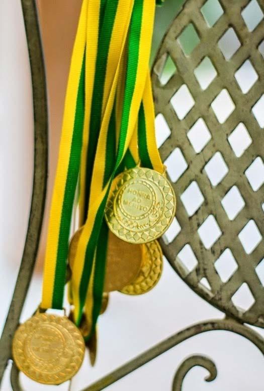 Medalhas para a decoração de copa do mundo