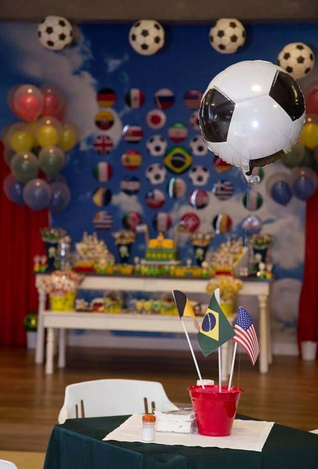 Festa infantil futebol para copa do mundo