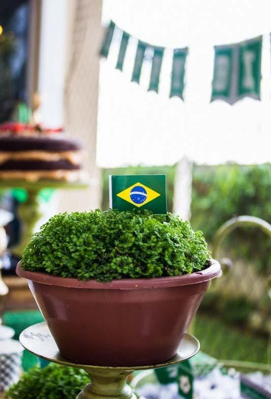 Plantinhas para decoração de copa do mundo