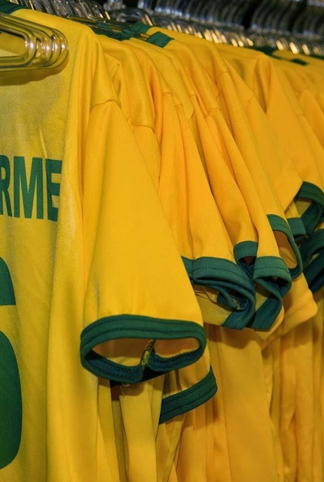 Camisetas da seleção para decorar a festa Copa do Mundo