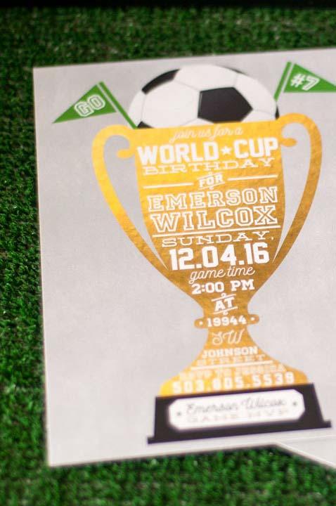 Convite de aniversário para festa Copa do Mundo