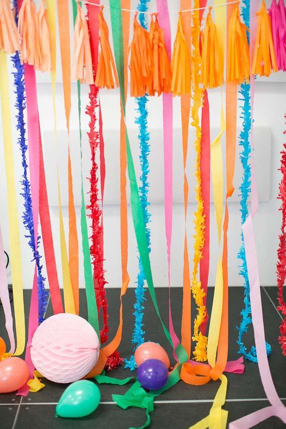 Cortininha para decorar a festa simples infantil
