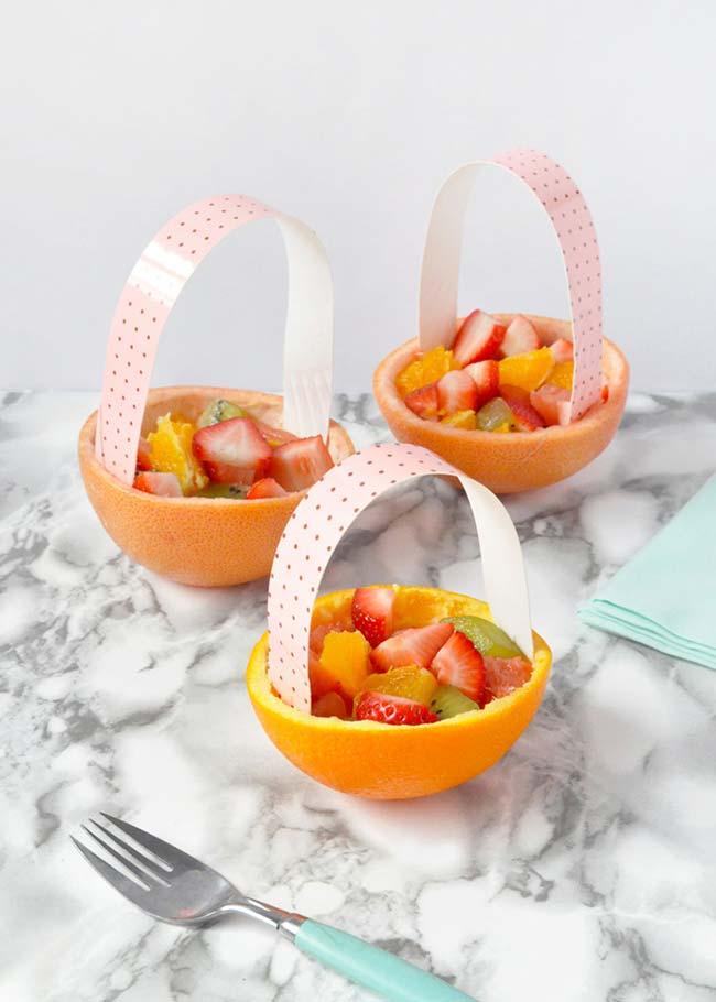 Saladinha de frutas para festa infantil simples