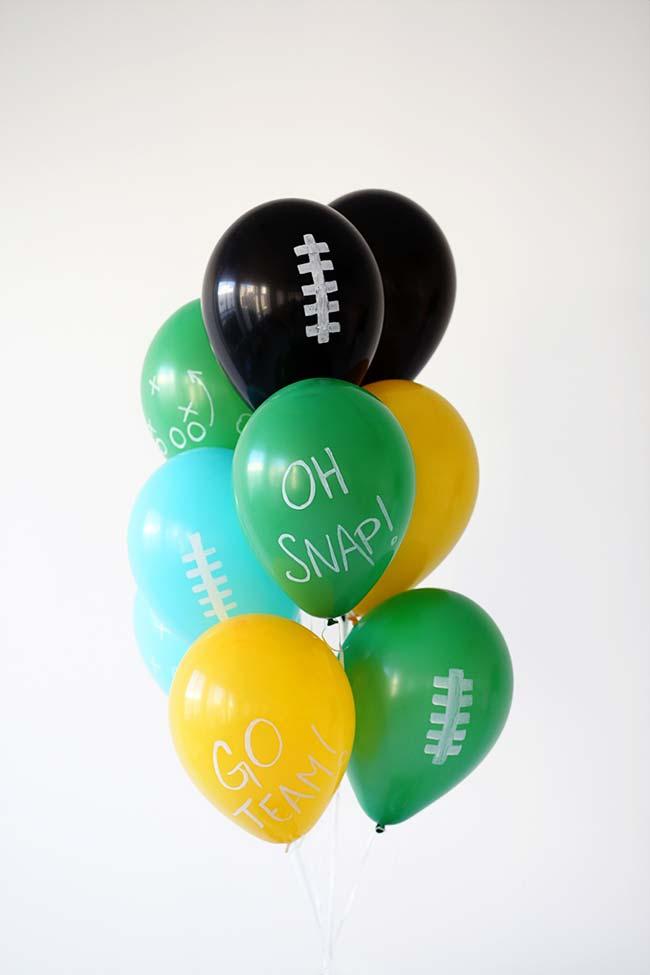 Balões para festa simples