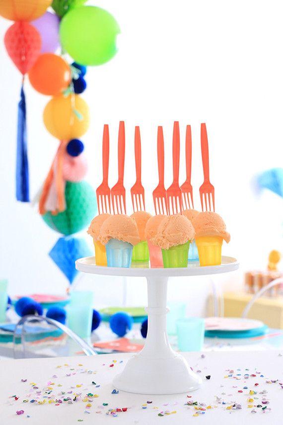Porções individuais na festa infantil simples