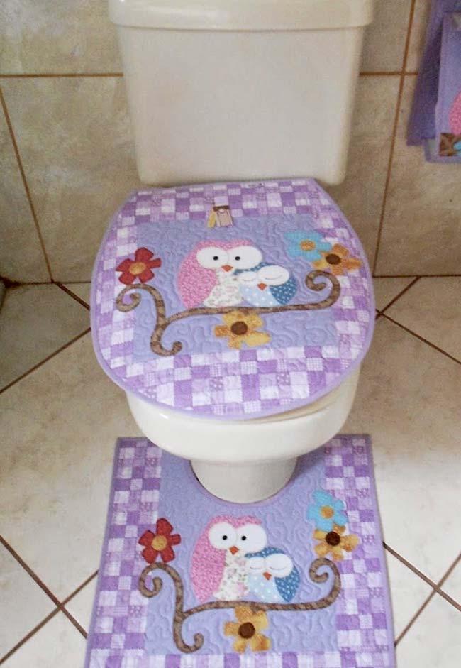 Jogo de banheiro mamãe coruja