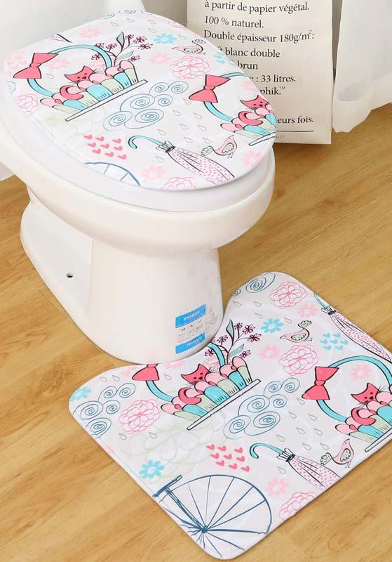 Jogo de banheiro de estampa delicada