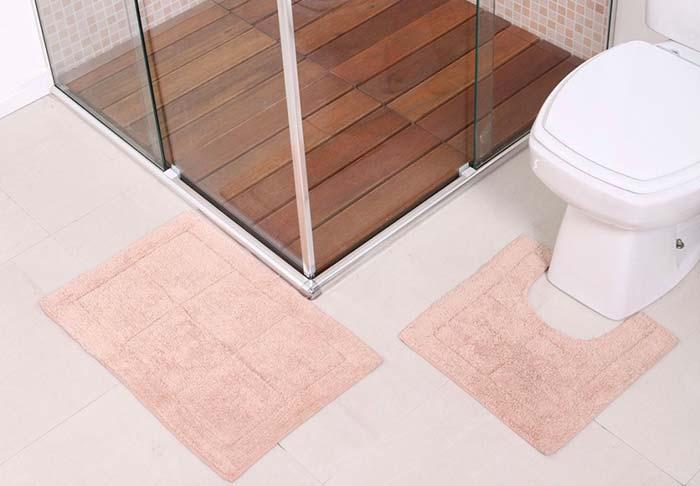 Jogo de banheiro minimalista