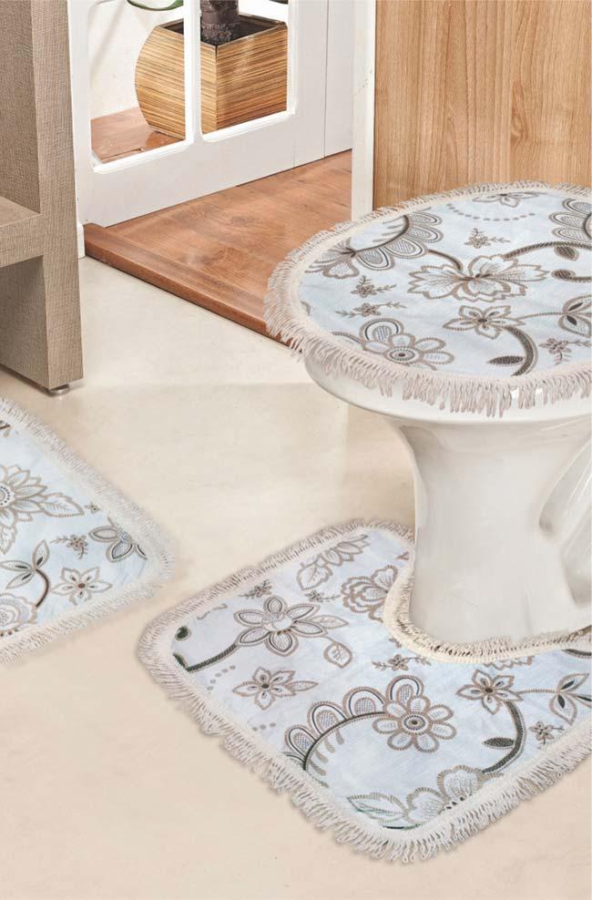 Jogo de banheiro fácil de lavar e de secar