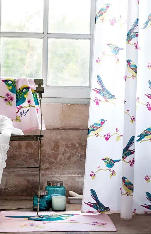 Jogo de banheiro pintado à mão