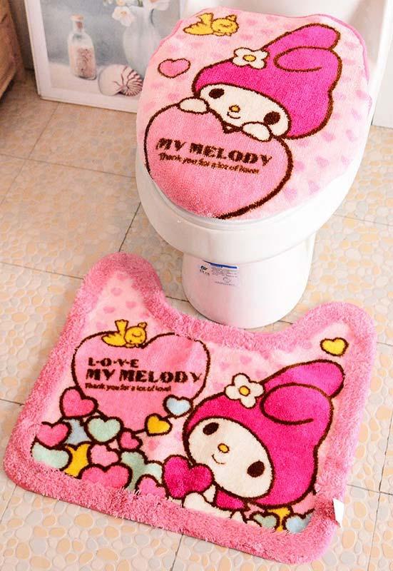 Jogo de banheiro para as meninas pequenas (e as grandes também!)