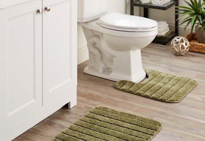 Jogo de banheiro musgo
