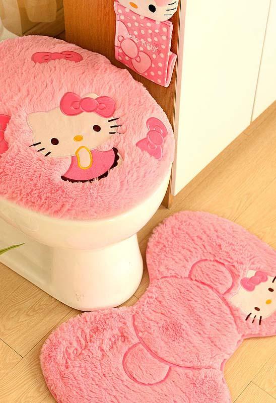 Jogo de banheiro Hello Kitty