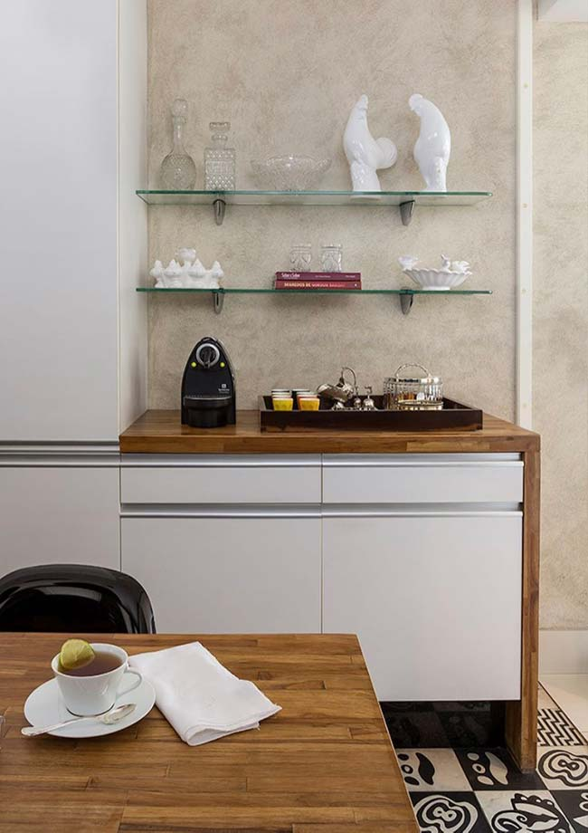 Bancada de banheiro para o cantinho do café