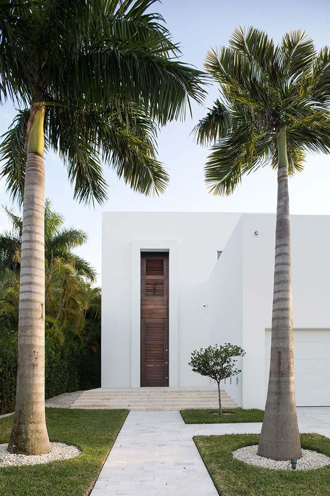 Palmeiras reais guardando a entrada da casa