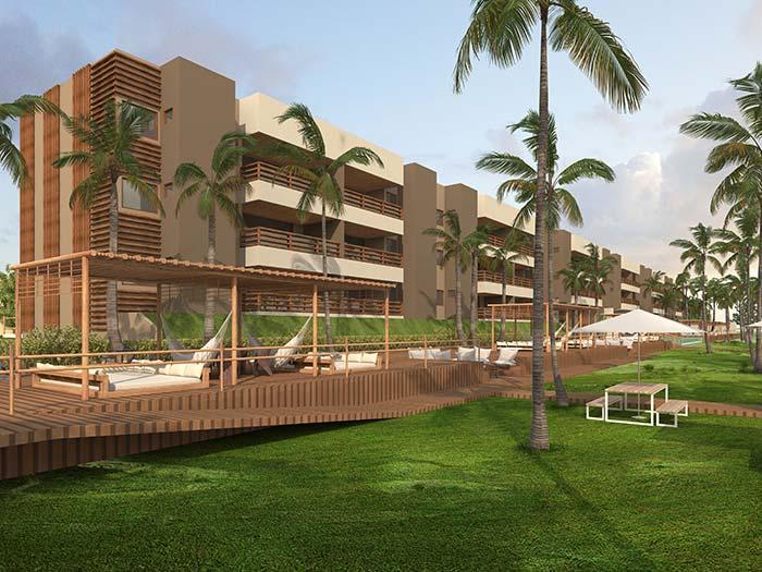 Elegância para as construções com palmeiras na área externa