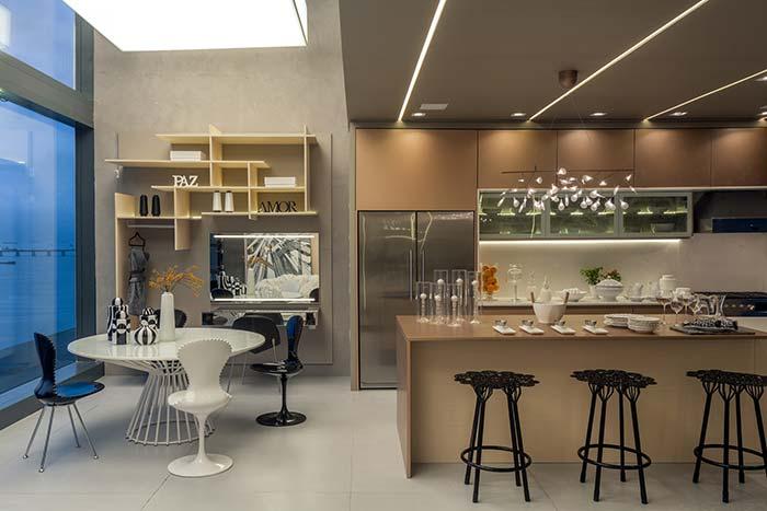 Refeições completas podem ser servidas diretamente no espaço gourmet