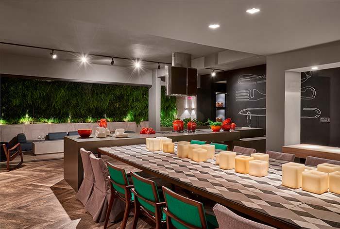 Espaço gourmet para muitos convidados