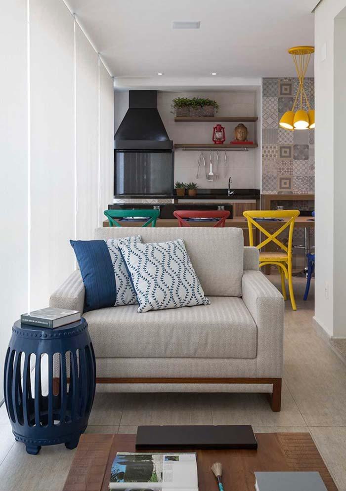 Espaço gourmet simples de apartamento